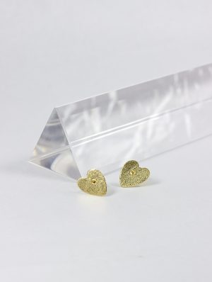 Pendientes de Oro 18k con forma de Corazón