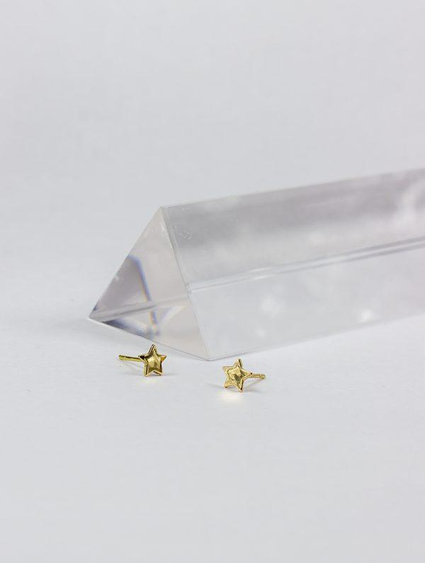 Pendientes de Oro 18k con forma de estrella