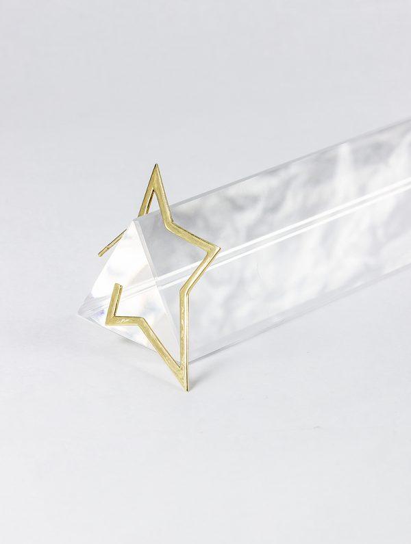 Pendiente de Oro 18k con forma de Estrella