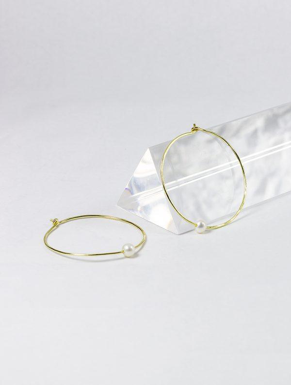 Aros de Oro 18k con perlas