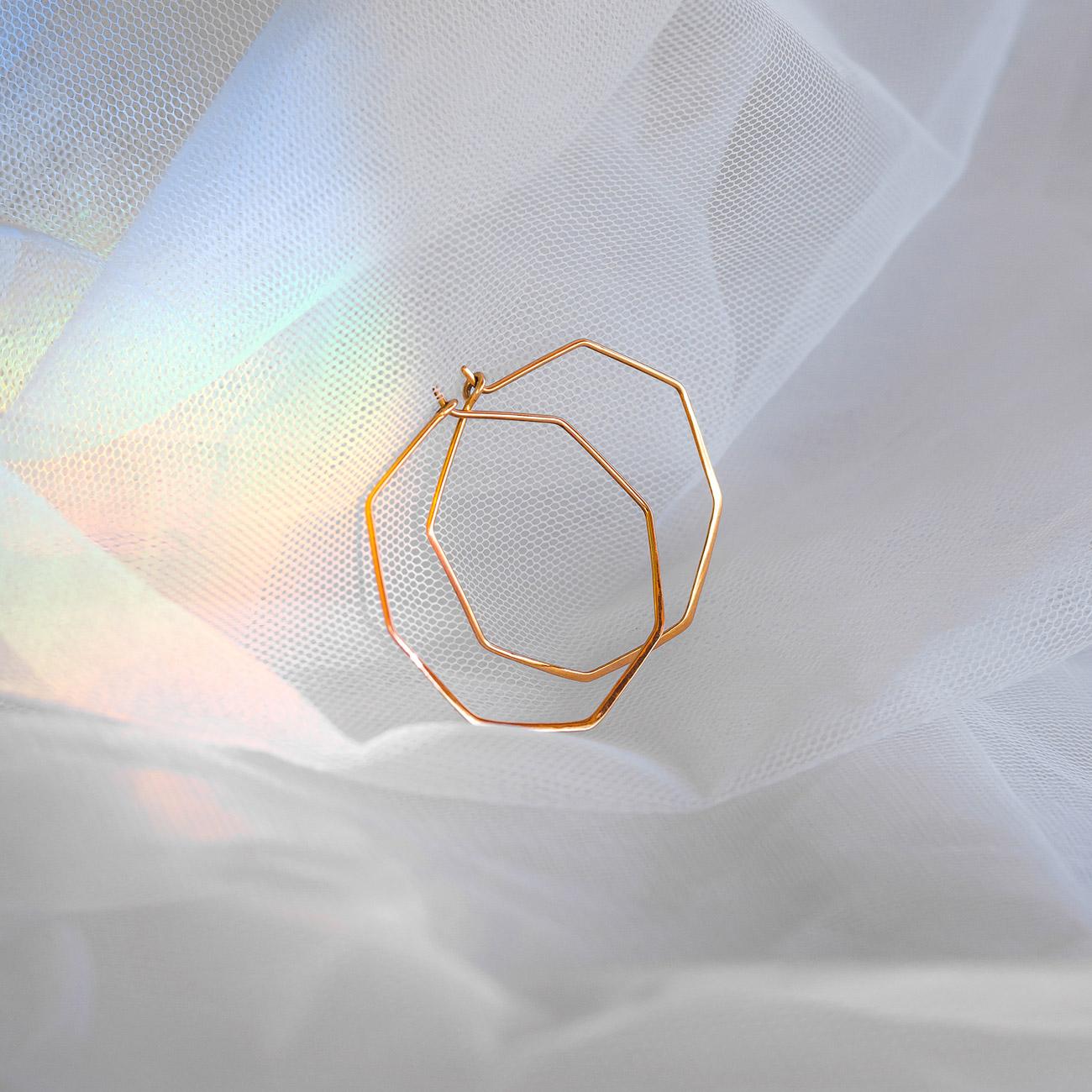 Pendientes Geométricos de Oro 18k